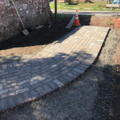 Pathways & Landscaping Going in at The Marie B&B