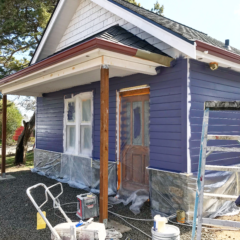The Cabins Are Built & Paint's On at The Marie B&B